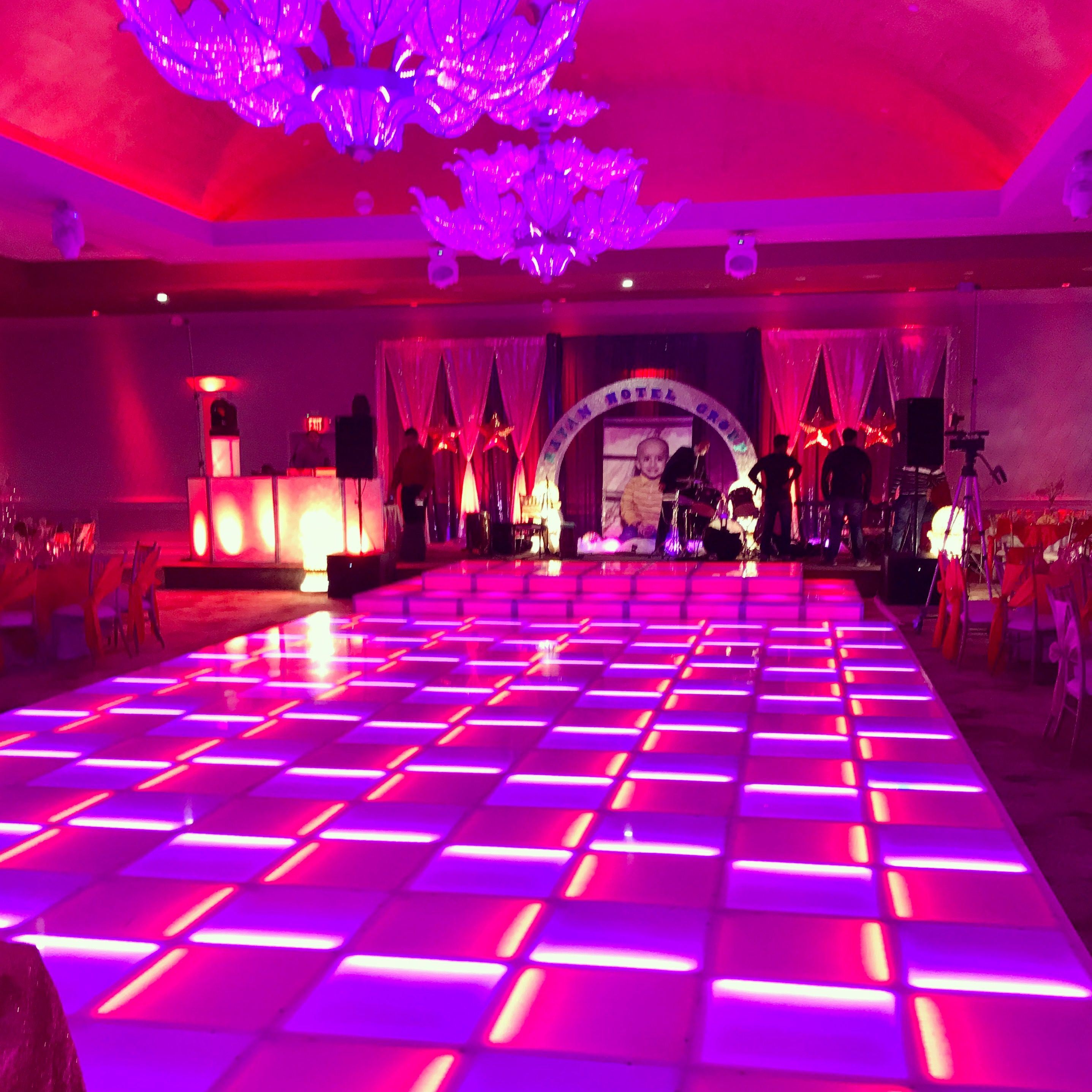Lighted Led Dance Floor Led Lighted Stage Double Height