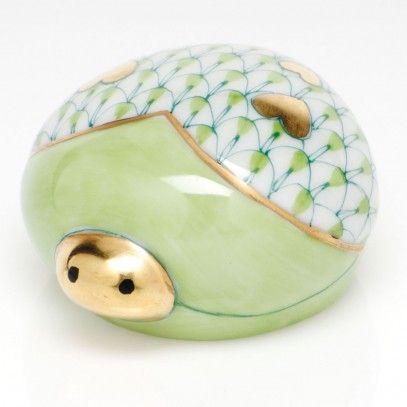 Oh my...I love this!  Herend Porcelain Figurine  Love Bug Key Lime