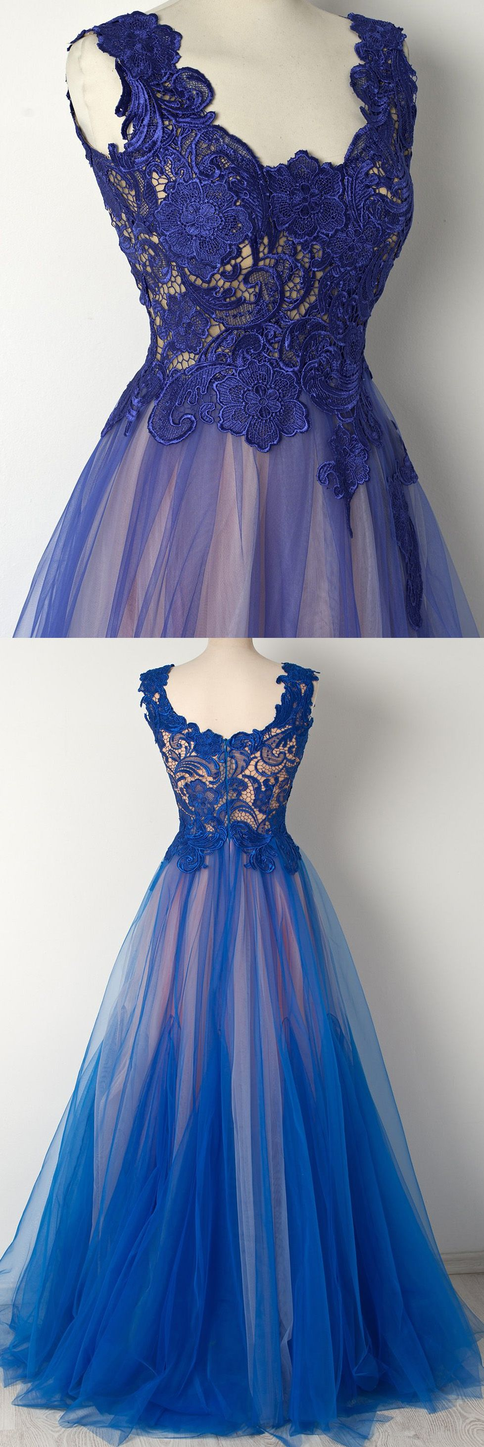 Outlet comely royal blue long prom evening dress with zipper lace