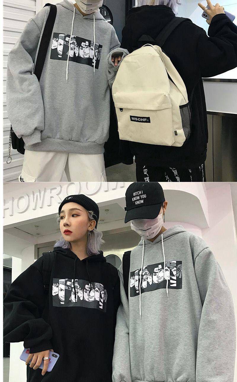 Anime naruto sasuke sweatshirt hoodie print naruto and