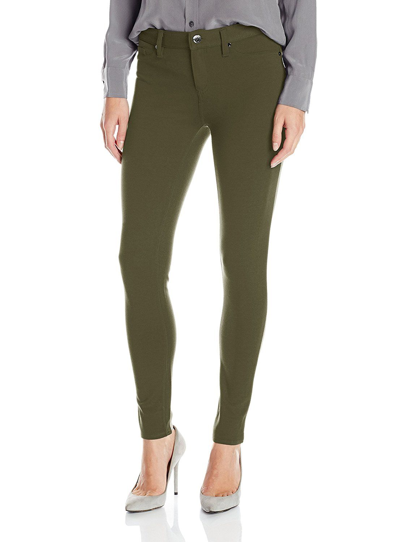 6ea5cf626cdb03 Calvin Klein Jeans Women's 5 Pocket Ponte Legging, Medieval Green, 31/12 at  Amazon Women's Clothing store: