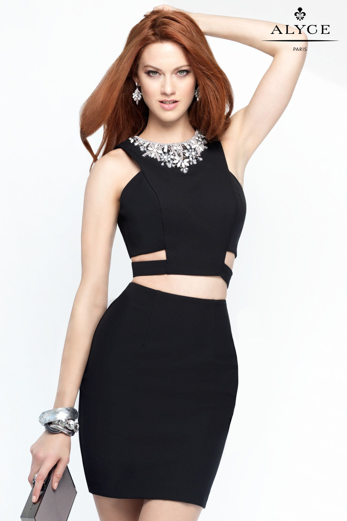 Alyce black piece bodycon dress party dresses pinterest