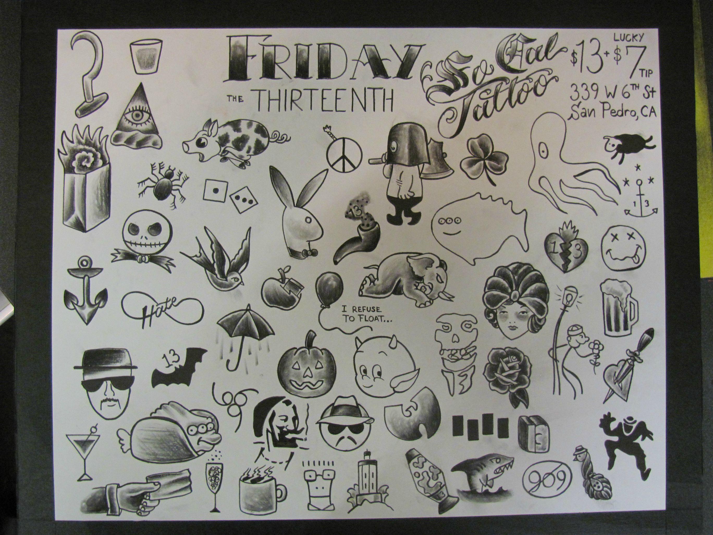 Friday 13th Flash Socal Tattoo San Pedro Ca Friday The 13th