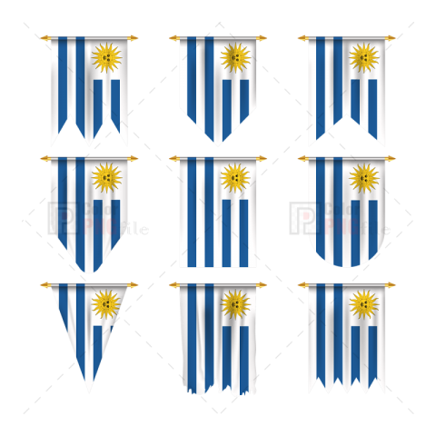 Uruguay Flag In Various Shape Free Png Png Images Png Photo