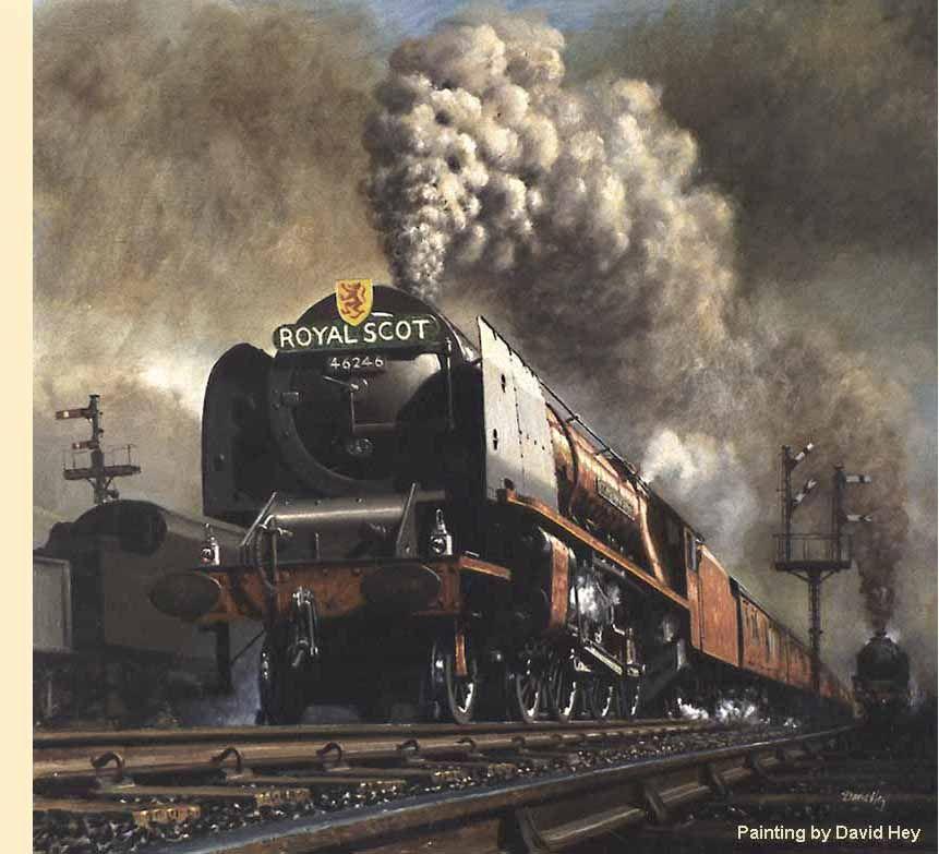 steam trains british in paintings -David Heys steam diesel ...
