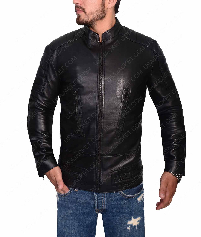 Mens Black Slimfit Cafe Racer Leather Jacket Leather Jacket Cafe Racer Leather Jacket Cafe Racer Jacket [ 1500 x 1275 Pixel ]