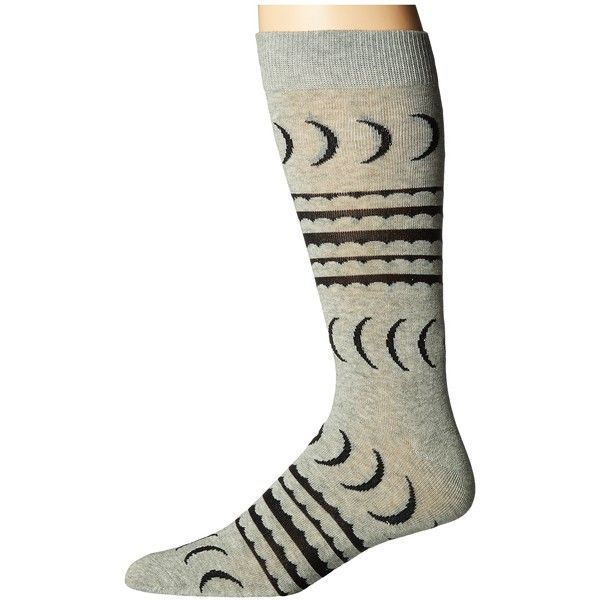 Richer Poorer Crescent (Heather Grey) Men's Crew Cut Socks ($12) ❤ liked on Polyvore featuring men's fashion, men's clothing, men's apparel and mens clothing