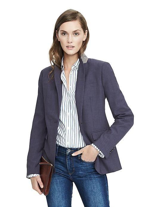 ae46211cfc45 Shop Banana Republic navy wool blazer on ShopStyle. | Currently ...