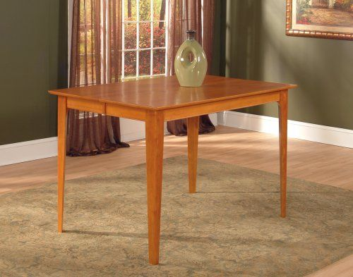 Montreal Dining Table With 36 X 60 Solid Top In A Caramel Latte Finish By Atlantic Furniture Dining Table Rectangle Dining Table Dining Table In Kitchen