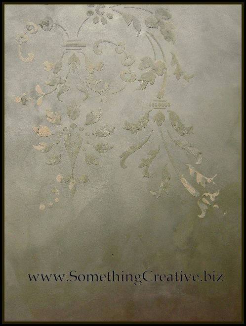 Fantastic decorative finishes created with the assist of 'Royal Design Studio' stencils!