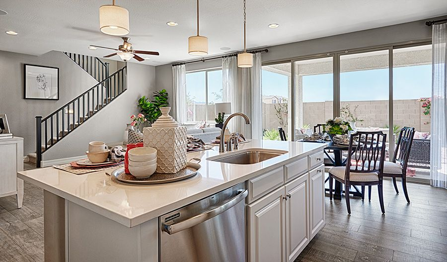 A Center Island Adds Style And Convenience To This Laveen Az Kitchen Coral Plan Seasons