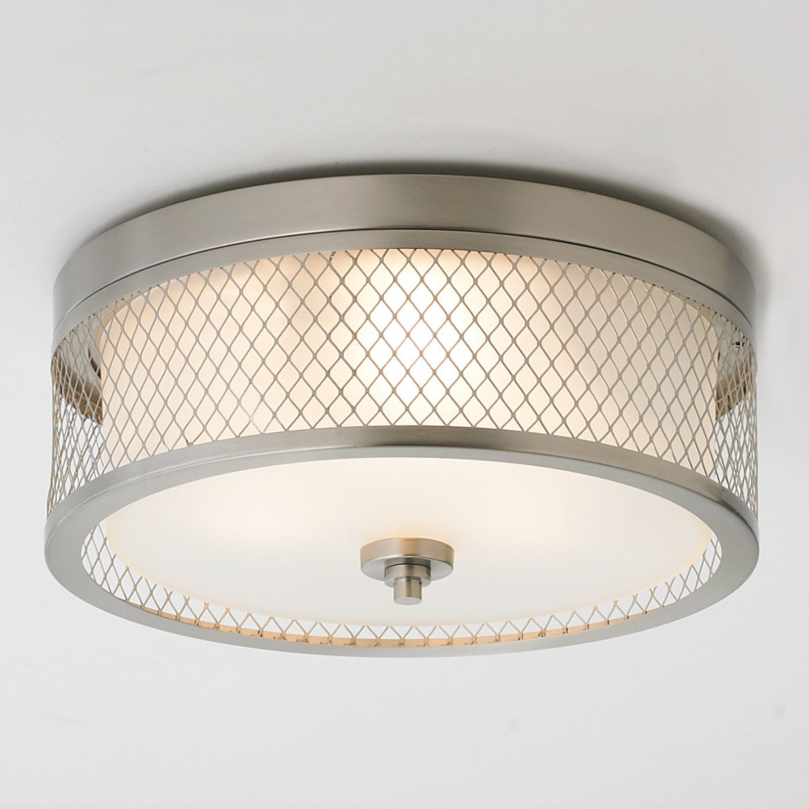 Lattice Screen Double Drum Ceiling Light