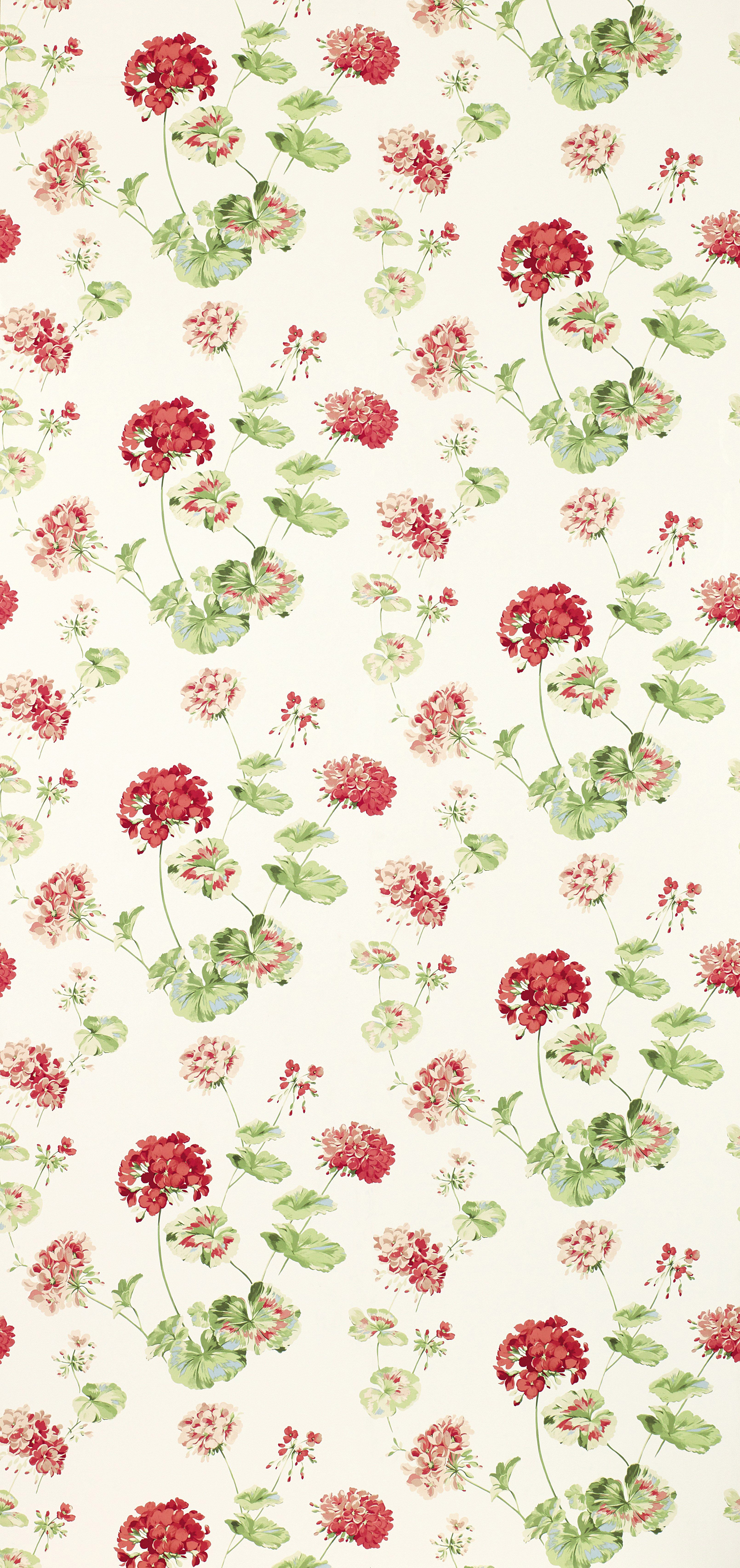 Geranium Pale Cranberry From The Laura Ashley Wallpaper Collection