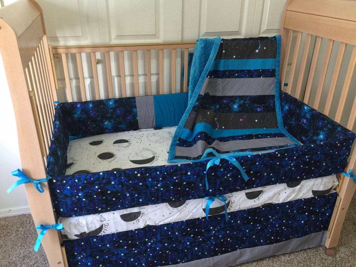 space bedding/galaxy bedding/constellation bedding/crib bedding