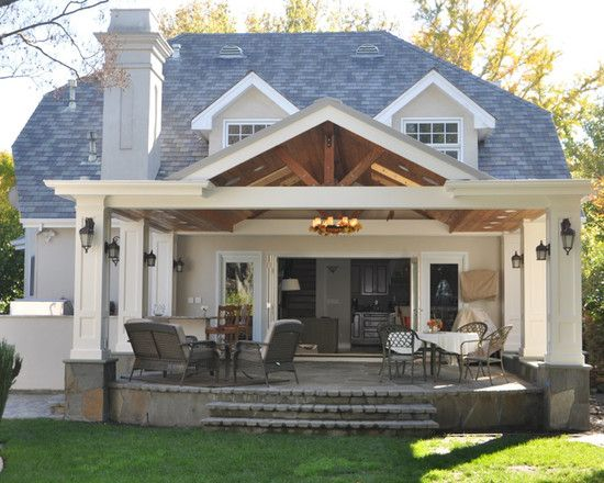 Lovely Gorgeous Classic Small Covered | Covered patio design ...