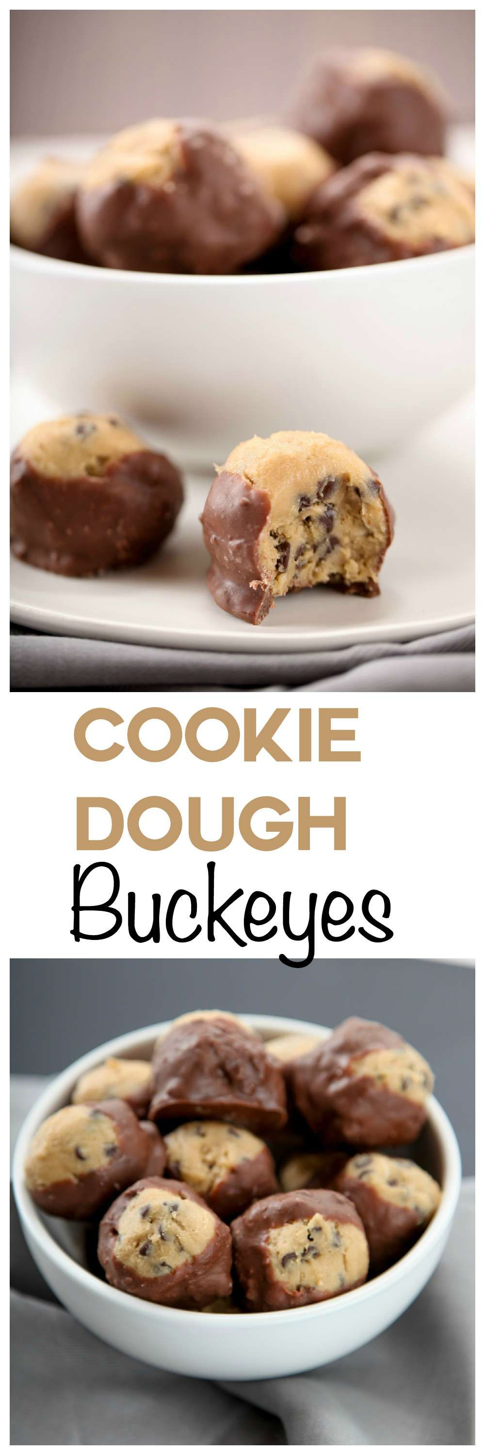Creamy chocolate chip cookie dough coated in rich milk chocolate. So addicting!