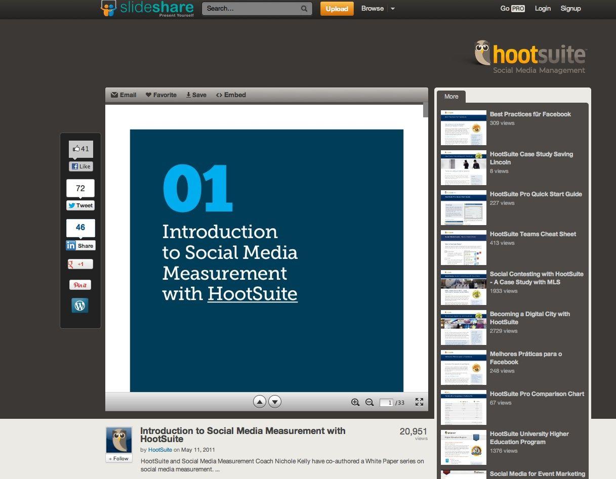 How To Plan Digital Measurement Pinterest Social Media - Hootsuite social media strategy template