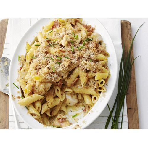 Chicken penne carbonara with crispy crumbs recipe   Food To Love