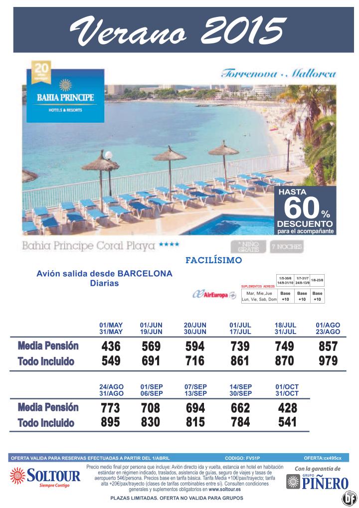 Torrenova - Mallorca, hasta 60% Dto.Acompañante en Bahia Principe Coral Playa, salidas desde Barcelona - Verano 2015 ultimo minuto - http://zocotours.com/torrenova-mallorca-hasta-60-dto-acompanante-en-bahia-principe-coral-playa-salidas-desde-barcelona-verano-2015-ultimo-minuto/