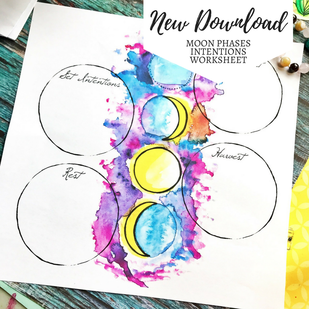 Moon Phases Intentions Worksheet