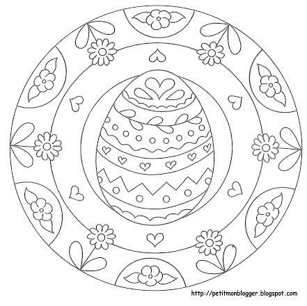 Fotka Ausmalbilder Ostern Mandala Ausmalen Malvorlagen Ostern