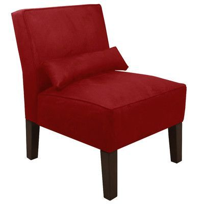 Lovely Skyline Furniture Premier Fabric Slipper Chair Color: Premier Red