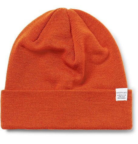NORSE PROJECTS NORSE PROJECTS - MERINO WOOL BEANIE - ORANGE.  norseprojects    fb860c9bee9