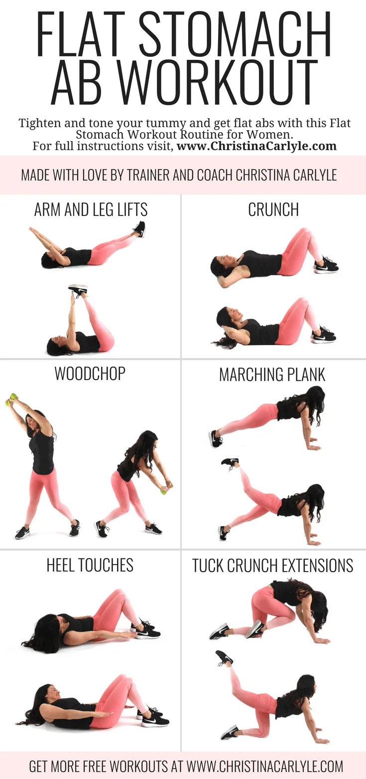 Quick, Fat Burning Flat Stomach Ab Workout -   19 workouts for flat stomach for beginners ideas