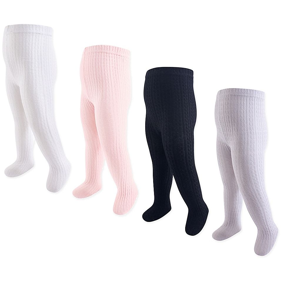 Luvable Friends Cotton Tights For Baby Pink
