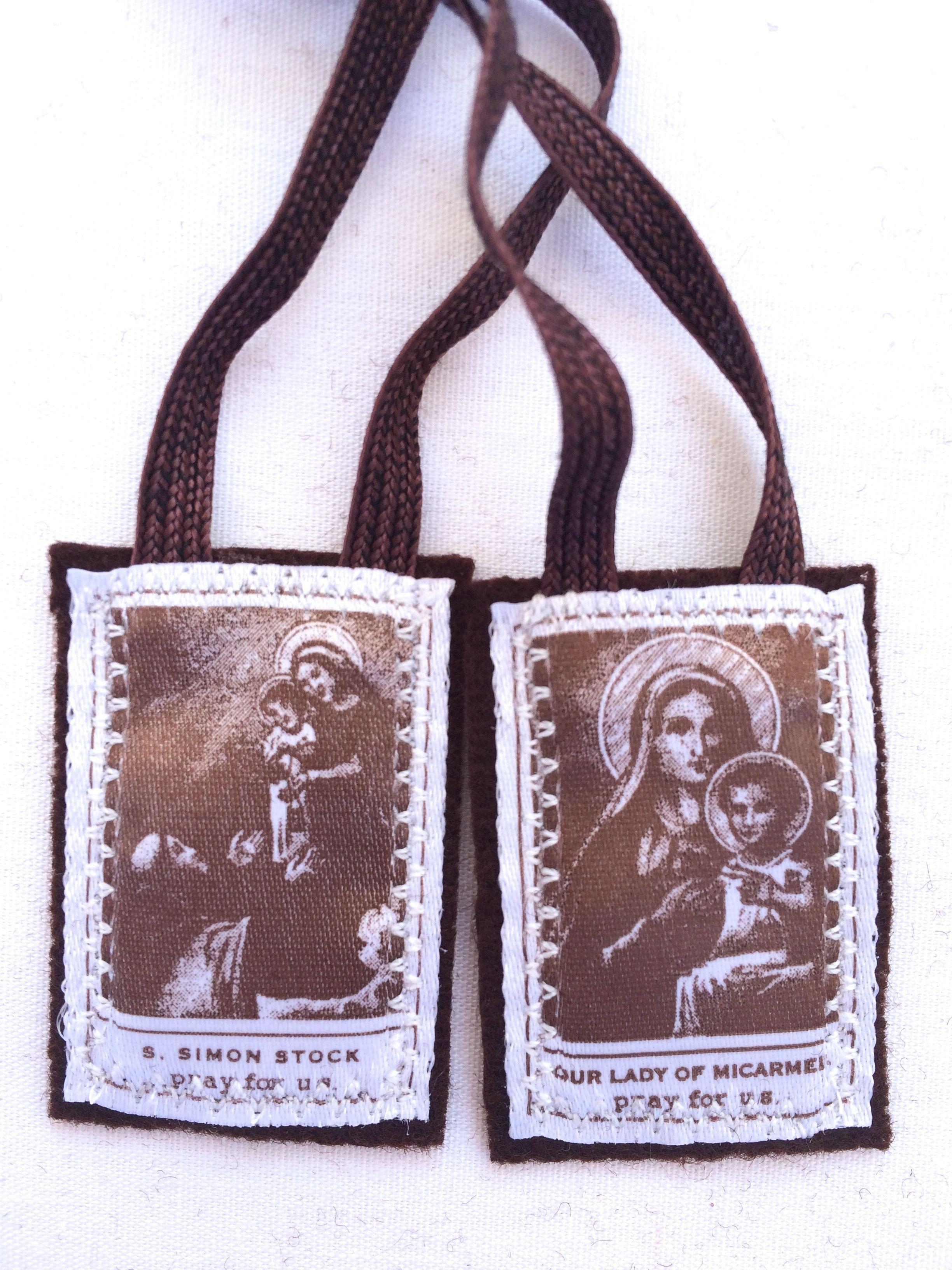 Carmelite brown wool scapular of carmel single lot or