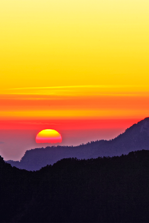 Sunrise from high mountains   by Thunderbolt_TW