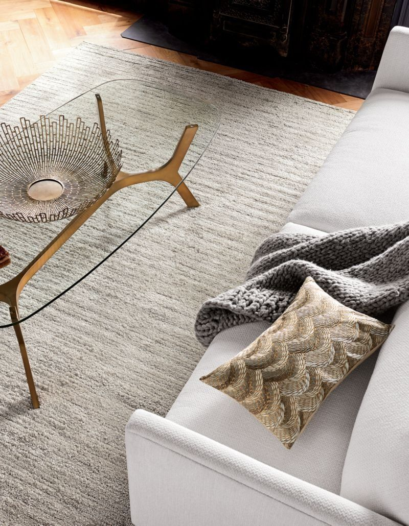 Starburst Brass Bowl Reviews Crate And Barrel In 2020 Crate Barrel Woven Rug Rugs