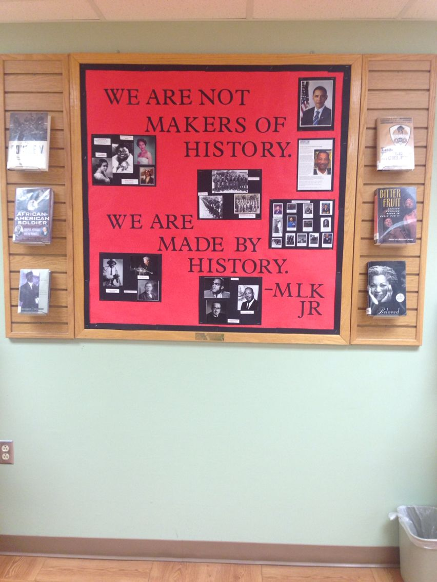 Black history month library bulletin board school for Black bulletin board ideas