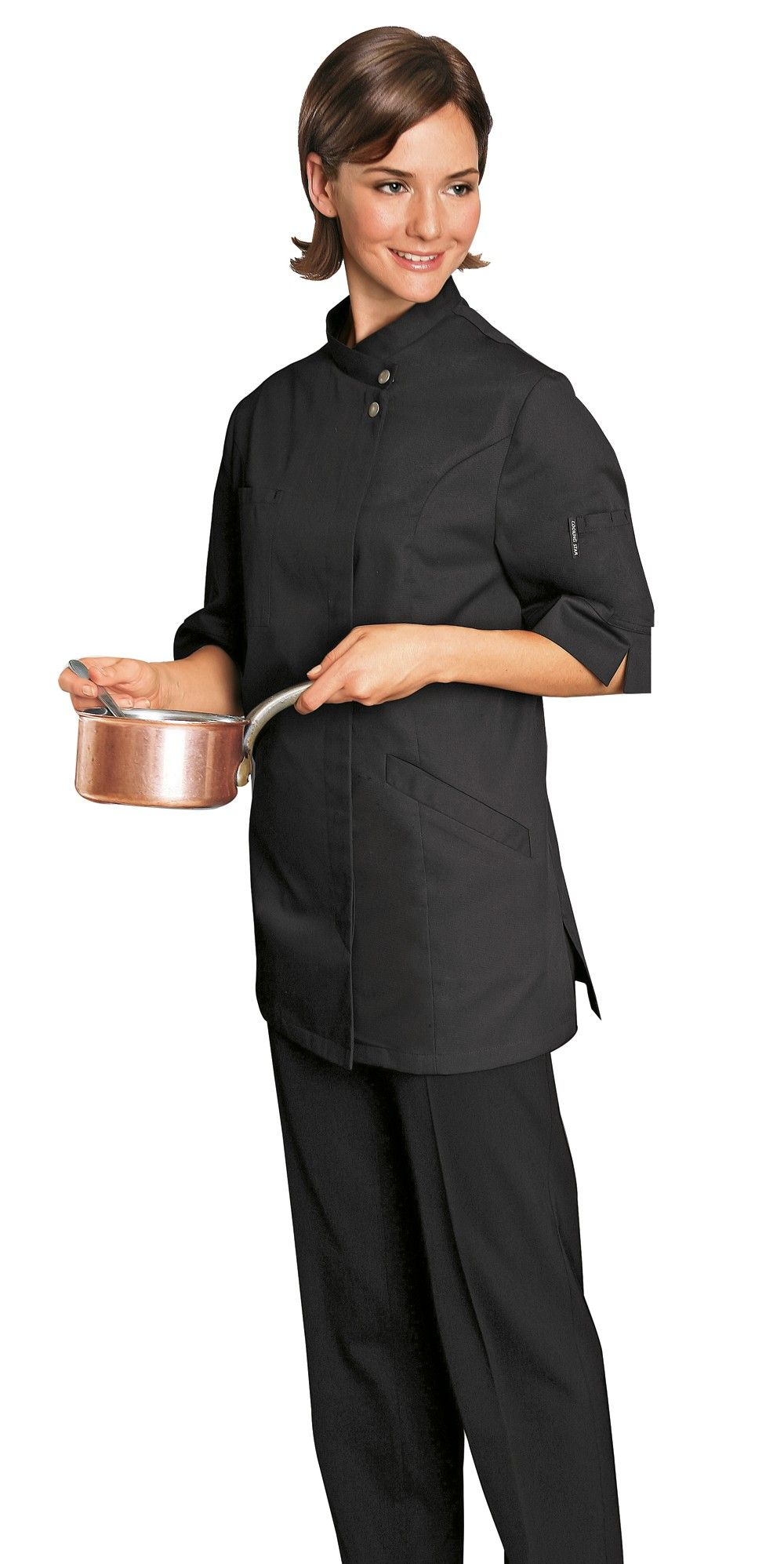 Verana Female Chef Jacket Black Chef jackets, Jackets