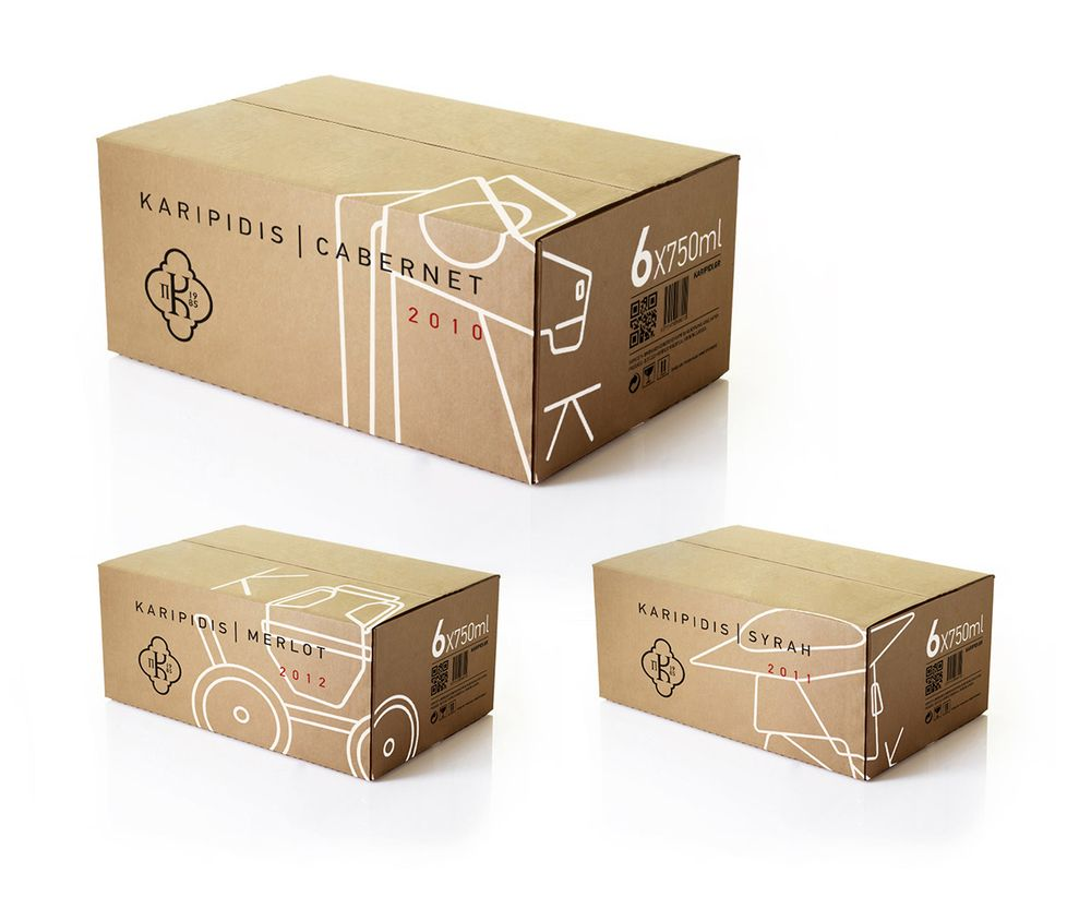 Karipidis Winery Carton Design Box Packaging Design Creative Packaging Design