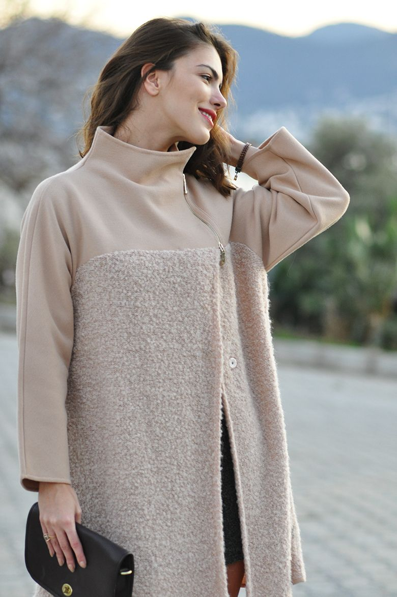 Pale pink Emporio Armani coat