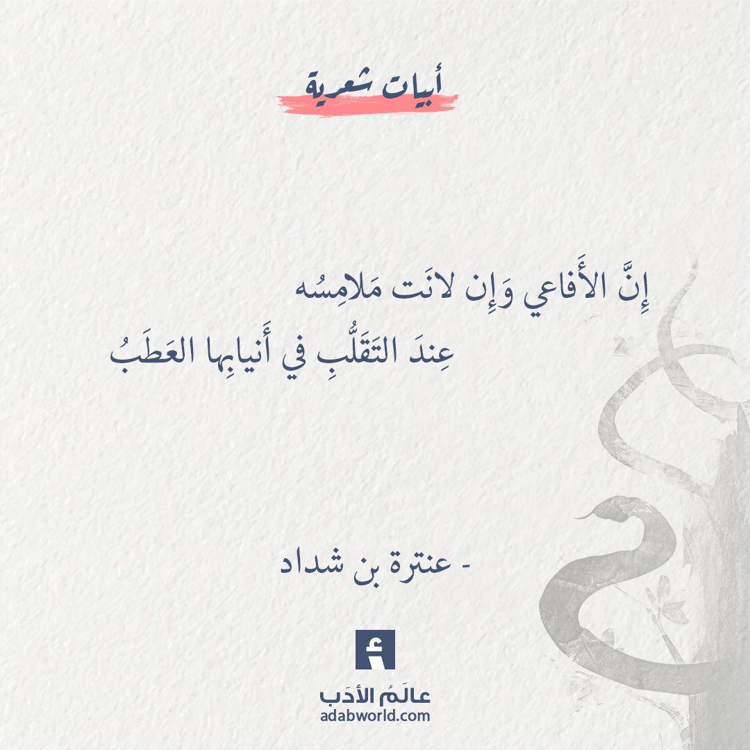من اجمل ابيات البلاغة لـ عنترة بن شداد عالم الأدب Simple Love Quotes Wisdom Quotes Words Quotes