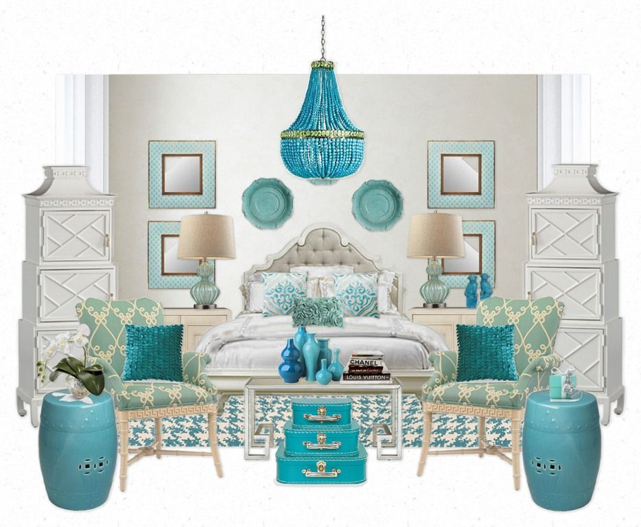 Tiffany Blue White Bedroom Ideas Love This Color Scheme
