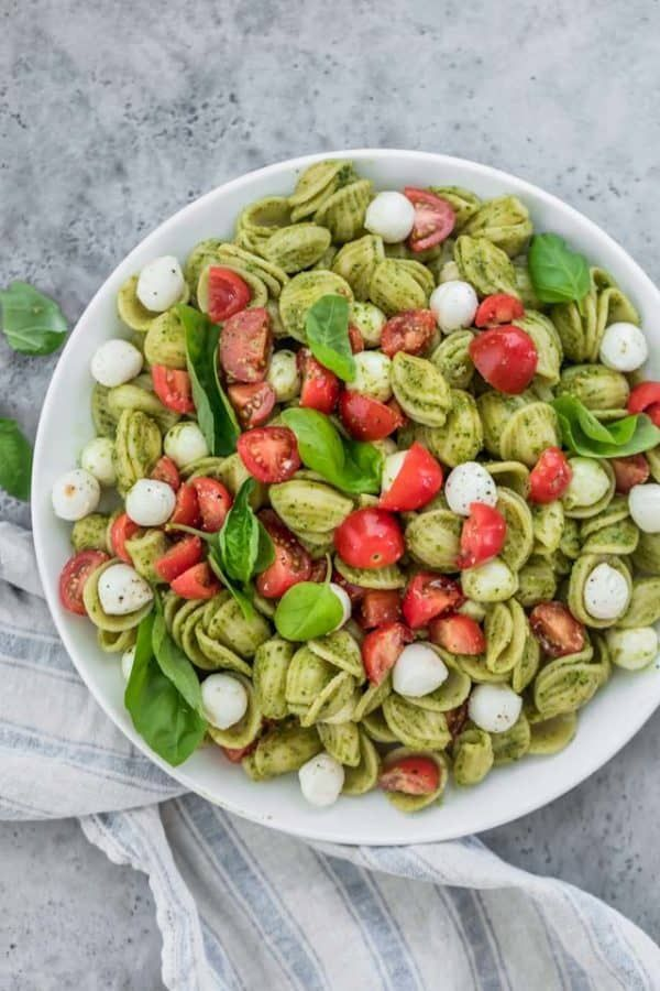 Photo of Caprese Pasta Salad with Pesto