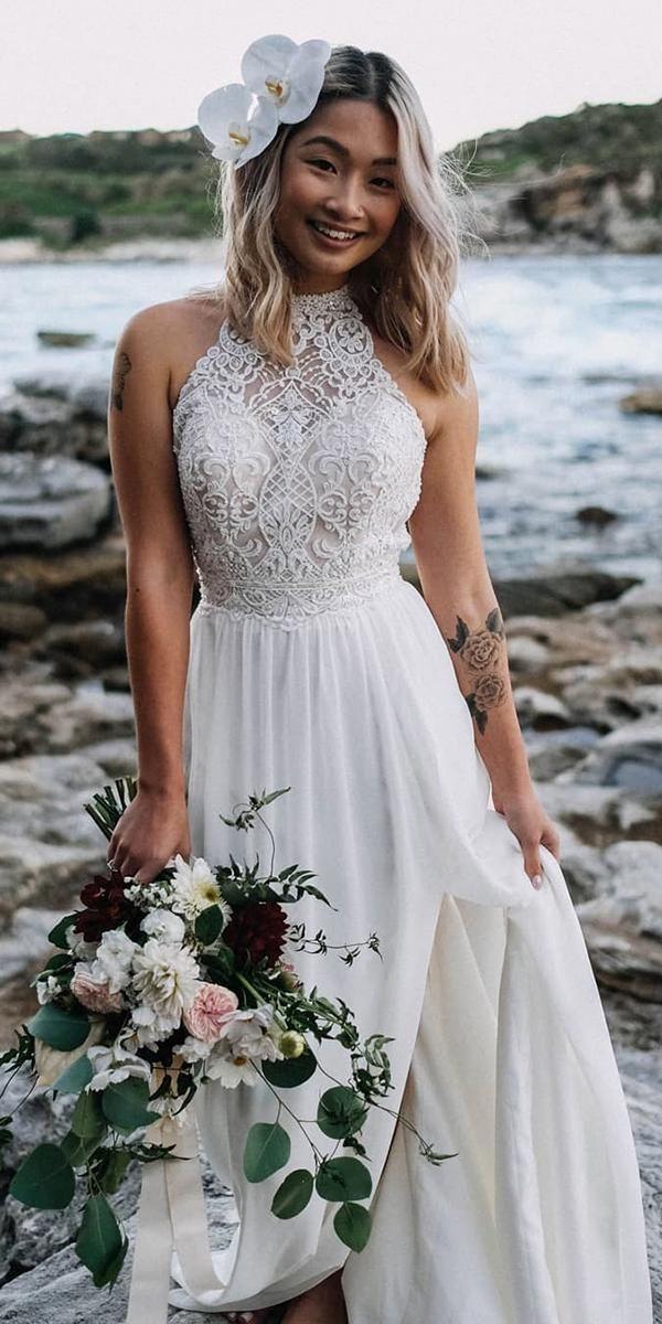 24 Stunning Cheap Wedding Dresses Under 1 000 Halter Wedding Dress Halter Top Wedding Dress Princess Wedding Dresses