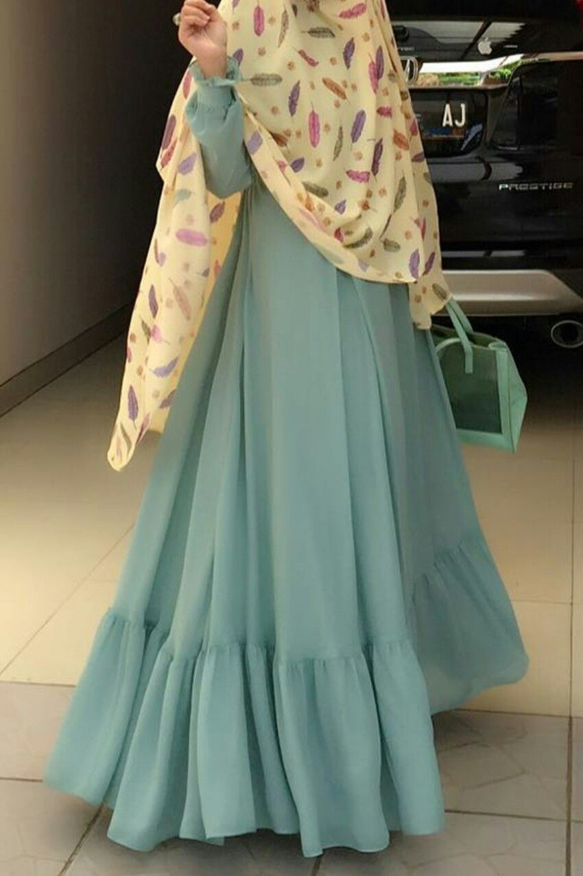 Love The Color Combination Hijab Modest Model Pakaian Wanita