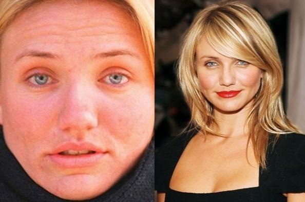 6517375da Famosas de Hollywood sin maquillaje | Antes y después | PERSONAJES ...