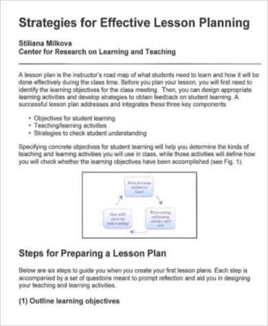 Effective Lesson Plan Template Lesson Plan Template Pinterest