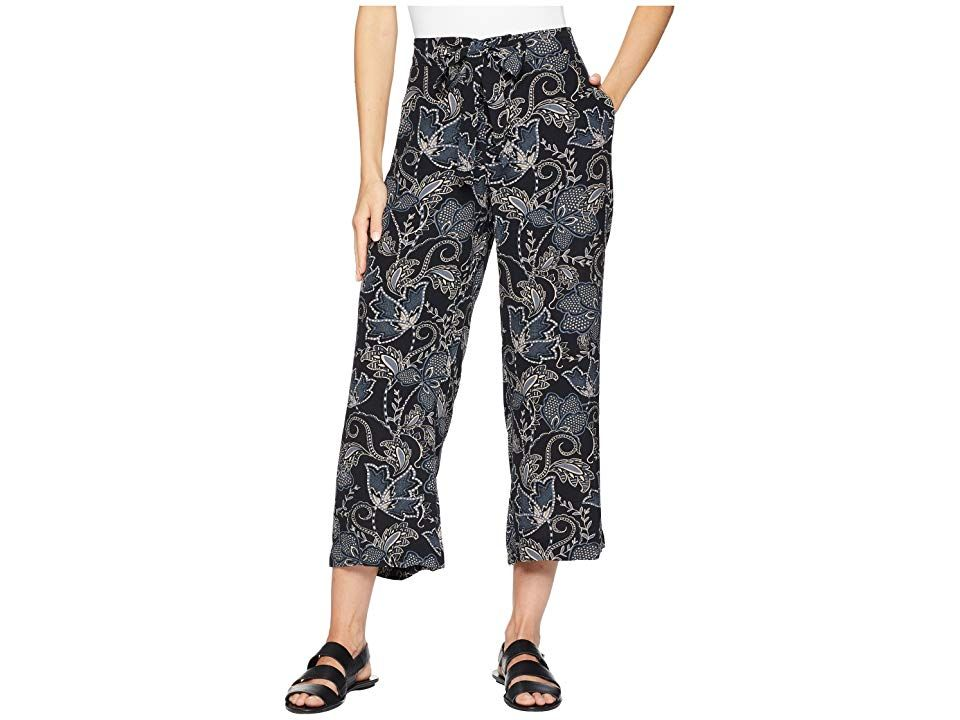 Sanctuary Calypso Wide Leg Crop Pants Wildflower Womens Casual Pants Live your life dressed fashionably in Sanctuary clothing Wide leg cropped pant flaunt and allover wil...
