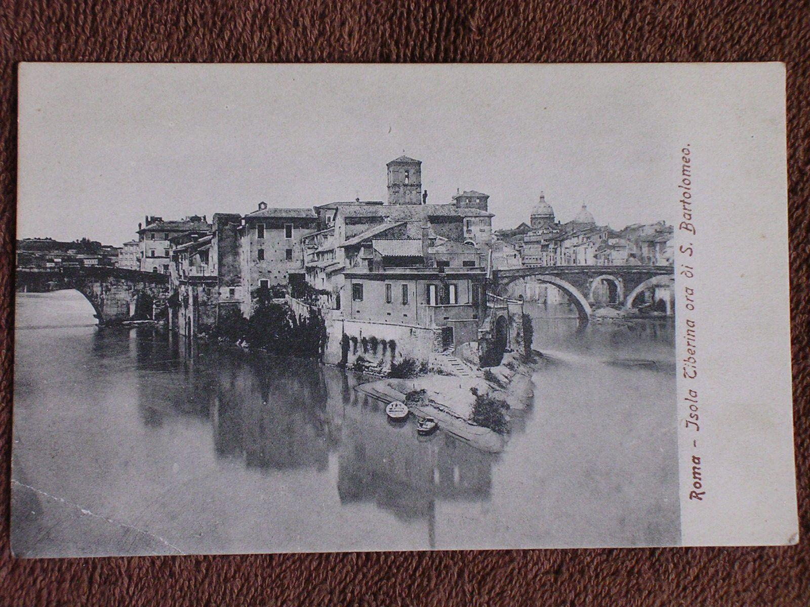Roma Rome Italy Isola Tiberina Ora Di s Bartolomeo Printed Photo Postcard   eBay