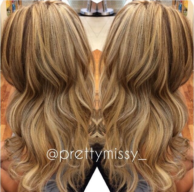 All over blonde highlights and lowlights | Ombre hair | Pinterest ...