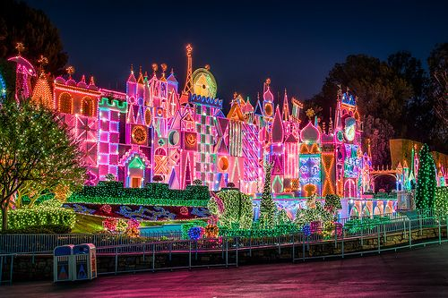 Its A Small World, decorated for Christmas .
