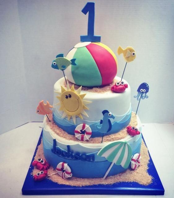 Birthday Cake Ideas Beach : beach themed first birthday cakes - Google Search Gavin ...