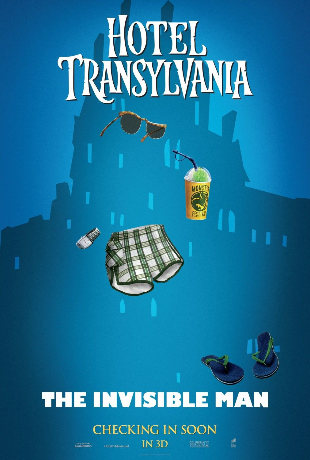 Hotel Transylvania- My favorite character in the movie is: THE INVISIBLE MAN!!!!