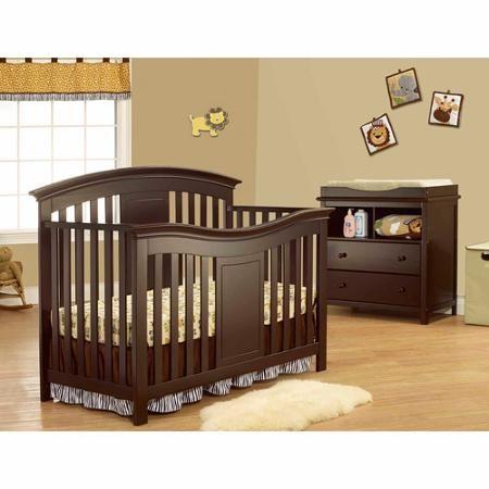 Sorelle Furniture Yorkshire 4 In 1 Lifetime Fixed Side Convertible Crib Cribs Convertible Crib Convertible Crib Espresso